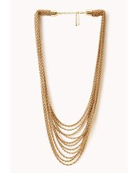Forever 21 - Metallic Layered Rope Chain Necklace - Lyst