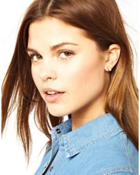French Connection - Pink Cuboid Stud Earring - Lyst