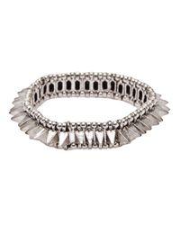 Philippe Audibert | Metallic 'lina' Crystal Milgrain Elastic Bracelet | Lyst