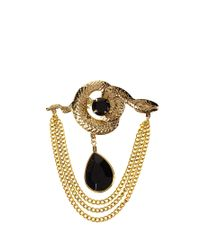 ASOS | Black Susan Caplan Exclusive For Vintage 80s Serpent Brooch | Lyst