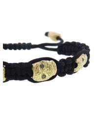 Armenta - Black Diamond Skull Macramã Bracelet - Lyst