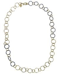 Armenta | Metallic Midnight Gold Link Chain | Lyst