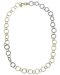 Armenta - Metallic Midnight Gold Link Chain - Lyst