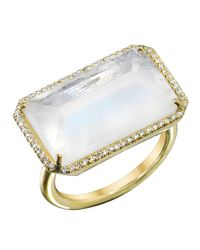 Irene Neuwirth | White Rainbow Moonstone Ring | Lyst