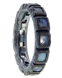 Nak Armstrong | Blue Rainbow Moonstone Mosaic Band | Lyst