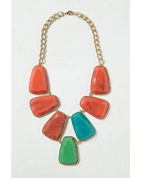 Anthropologie | Multicolor Stoneslab Bib Necklace | Lyst