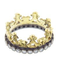 Armenta - Blue Half Crown Ring - Lyst