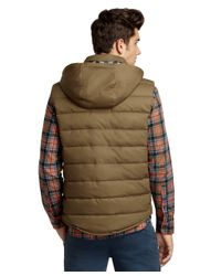 Brooks Brothers | Green Quilted Vest for Men | Lyst