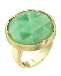 Irene Neuwirth | Green Rose Cut Chrysoprase Ring | Lyst