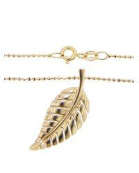 Jennifer Meyer - Metallic Small Leaf Pendant - Lyst