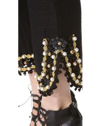Moschino - Black Embellished Pants - Lyst