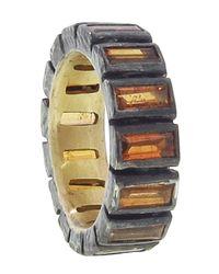 Nak Armstrong - Orange Mandarin Garnet Mosaic Ring - Lyst