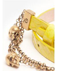 Alexander McQueen - Yellow Double Wrap Chain Bracelet - Lyst