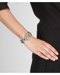 Bottega Veneta - Metallic Intrecciato Antique Silver Cuff - Lyst