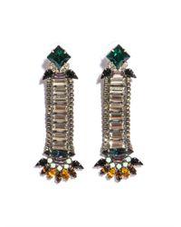 DANNIJO - Green Catalina Embellished Earrings - Lyst