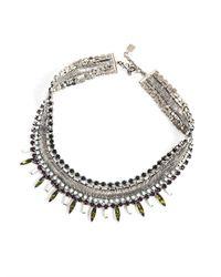 DANNIJO | Metallic Keira Embellished Necklace | Lyst