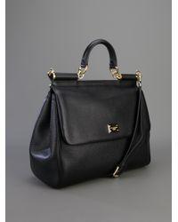 Dolce & Gabbana - Black Mini Sicily Tote Bag - Lyst