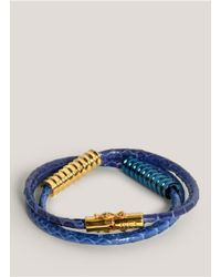 Eddie Borgo | Blue Scaled Wrap Bracelet | Lyst