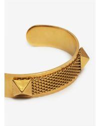 Ela Stone - Metallic Davy Stud-and-mesh Cuff Bracelet - Lyst