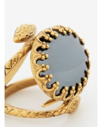 Ela Stone | Black Snake Stone Ring | Lyst