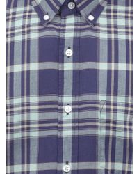 J.Crew - Blue Indian Cotton Shirt for Men - Lyst