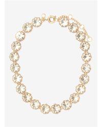 J.Crew | Metallic Crystal Wreath Necklace | Lyst
