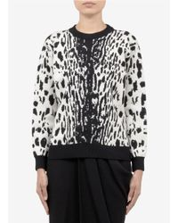 Lanvin | Black Leopard Jacquard Wool-blend Sweater | Lyst