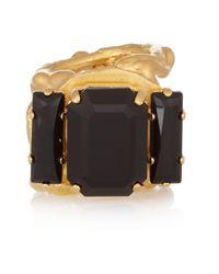 Marni - Metallic Goldplated Crystal Ring - Lyst