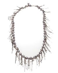Samira 13 | Metallic Fresh Water Pearl Necklace | Lyst
