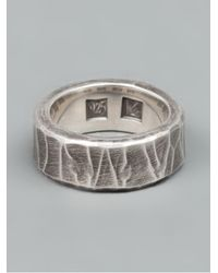 Werkstatt:münchen | Metallic Chunky Ring for Men | Lyst