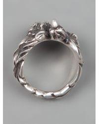 Werkstatt:münchen - Metallic Eagle Ring for Men - Lyst
