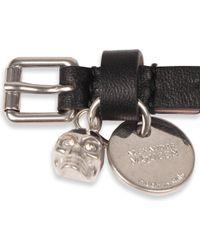 Alexander McQueen - Black Leather Double Wrap Bracelet - Lyst