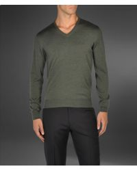 Armani | Green V Neck Sweater for Men | Lyst