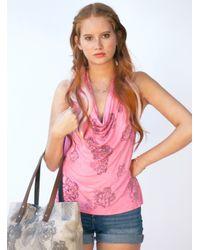 Simeon Farrar - Hot Pink Halter Neck Top By - Lyst
