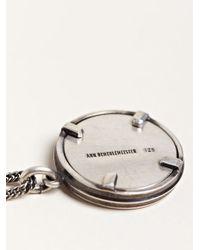 Ann Demeulemeester - Metallic Womens Short Mirror Necklace - Lyst