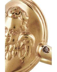Bottega Veneta | Metallic Gold-Plated Cubic Zirconia Cherub Ring | Lyst