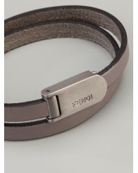 Fendi | Gray Logo Cuff for Men | Lyst