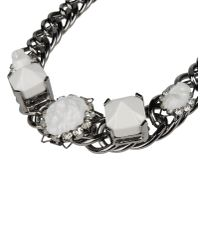 Fenton | White Necklace | Lyst