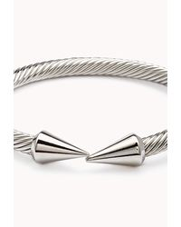Forever 21 - Metallic Twisted Spike Cuff - Lyst