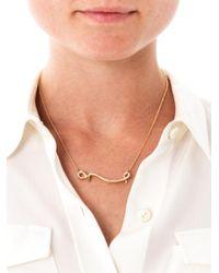 Ileana Makri - Metallic Diamond Yellow Gold Flying Snake Necklace - Lyst