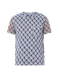 KENZO - Blue Tigerprint Tshirt for Men - Lyst