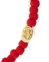 Luis Morais | Metallic Glass Bead And Gold Bracelet for Men | Lyst