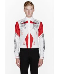 McQ - White and Red Tattoo Artist Fitted Shirt for Men - Lyst