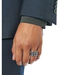 Saint Laurent | Metallic Silver Chain Ring for Men | Lyst