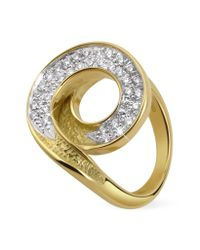 Torrini | Infinity 18K Yellow Gold Diamond Ring | Lyst