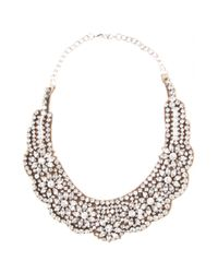 Valentino | Metallic Crystalembellished Necklace | Lyst