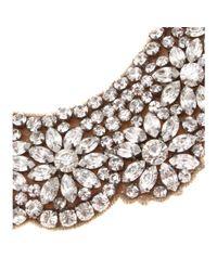 Valentino - Metallic Crystalembellished Necklace - Lyst
