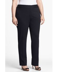 Vince Camuto | Black Stretch Trousers | Lyst