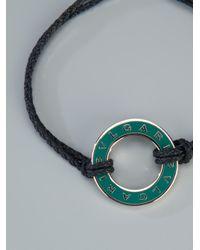 BVLGARI - Blue Woven Bracelet - Lyst
