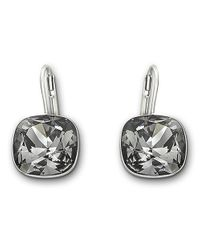 Swarovski - Metallic Sheena Silver Night Crystal Earrings - Lyst